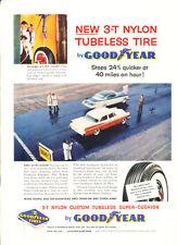 1956 Chrysler Goodyear Tire - Vintage Advertisement Car Print Ad J391