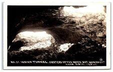 1938 Craters of the Moon National Monument, Indian Tunnel, Arco, ID Postcard