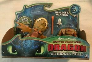 How to Train Your Dragon Meatlug and Fishlegs Action Figure (NEW+SEALED)