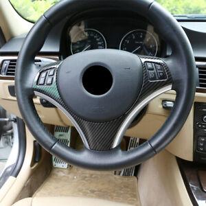 Carbon Fiber Look For BMW 1 3 Series E82 E87 E90 E92 E93 Steering Wheel Cover