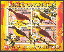 Palestinian National Authority Birds of Africa VI Greenbuls Sheet of 4 MNH**