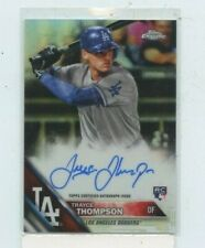 TRAYCE THOMPSON 2016 Topps Chrome Rookie Refractor Auto #D /499 LA DODGERS