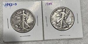 2 Walking Liberty Half Dollar 90% Silver