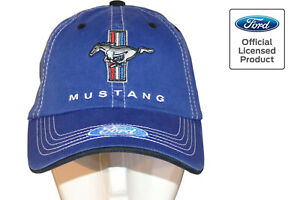 Ford Mustang Cap, original, lizenziert, Basecap, Pony, Kappe, blau, Tribar, 2021