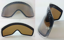 GOGGLE-SHOP MOTOCROSS MX ENDURO DUAL VENTED DARK SMOKE LENS fit OAKLEY O-FRAME