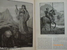 Morte D'Arthur King Arthur Knight Round Table Victorian Illustrated Article 1888