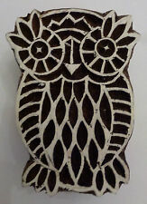 Owl Shaped 6cm Indian Hand Carved Wooden Printing Block Stamp