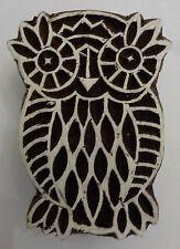 Búho Moldeado 6cm Indio Tallado A Mano Madera Impresión Bloque Sello