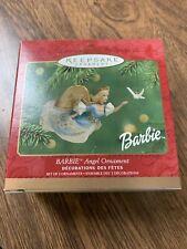 2001 Barbie Angel and Miniature Dove New Hallmark Ornament Set of 2 Peace Hope