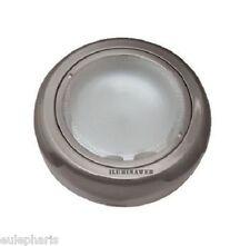 Foco Downlight de Superficie REDONDO Niquel Satin 2 x E27 max 25W, metal+cristal
