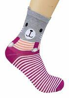 CHEX Socks Ladies Girls Cute Pig Bear Dog Animal Fun Novelty Ankle socks UK 2-5