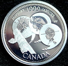 Canada 1999  ~Sterling Silver~  Proof Quarter Dollar ~JANUARY~