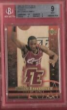LEBRON JAMES ROOKIE JERSEY CARD GRADED BGS MINT 9 03-04 UD RC EXCLUSIVES LAKERS