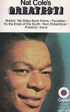 Nat Cole's Greatest Audio Cassette Tape Capital Records Stardust, Unforgettable