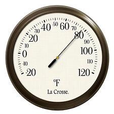 "104-108 La Crosse 8"" Round Indoor/Outdoor Dial Thermometer"