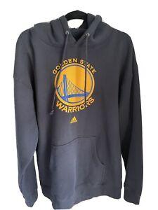 Adidas Golden State Warriors NBA Mens Hoodie Hooded Sweatshirt Navy Blue Size L