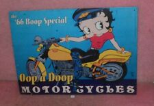 The '66 Boop Special Ook a Doop Moor Cycles Tin Sign.