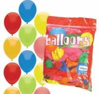 "100 Mixed Colour 10"" Latex Balloons - Helium Quality Party Wedding Air Fill"