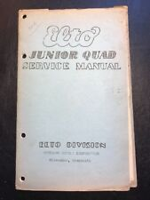 Scarce Vintage 1910's ELTO Outboard Junior Quad Service Manual,Original Evinrude