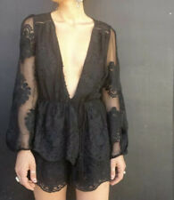 Ministry Of Style Black Lace Jumpsuit Playsuit Size 12 Excellent Condition
