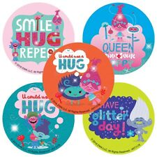 Trolls Stickers Glitter Stickers x 5 - Trolls Movie - Poppy - Troll Party Ideas