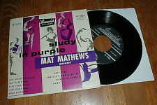 "MAT MATHEWS QUINTET Orig 1953 ""Study In Purple"" EP NM-"