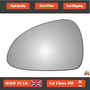 Left Passenger Convex Wing Mirror Glass for Porsche Boxster 2012-2018 316LS