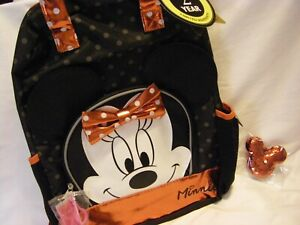 Minnie Mouse Backpack, Lipgloss, Red Sequin Keychain *3 PIECE SET*