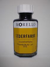 (17,45�'�/100ml) Lederfarbe Morello Einziehhaftfarbe zum färben DUNKELBLAU 40 ml