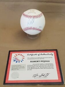 Albert Pujols Auto Signed Baseball 2005 Commemorative NL MVP Ball with Cert