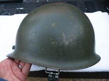 Orig Gi Viet Nam M1 Steelpot Mid War Orig Paint Chinstrap & Liner No Issues