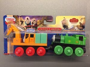 Thomas & Friends Wooden Railway - Oliver & Oliver The Excavator - Very Rare B