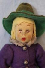 8.5 Inch Lenci Mascotte Girl Doll 1930s Two Lenci Tags Shaped Felt Hair c.1930