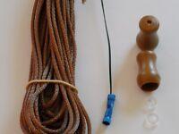 Window Blind Repair Kit - 30 Feet of 2.7 mm Medium Walnut Cord - Blind Parts