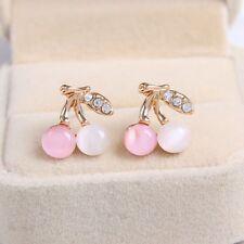 Rhinestone Ear Stud Opal Stone Crystal Jewelry Wedding Earring for Women Girls