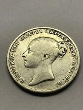 1838 WW Great Britain One Shilling Silver Fine #11079