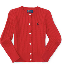 POLO RALPH LAUREN RED SWEATER FOR GIRL SIZE 2T