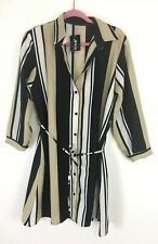 womens button down longsleeve dress sky noble NWT size large office career Hot!