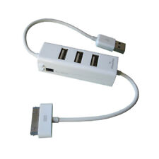 O25 praktisch USB 2.0 Hub 3x Port Adapter für PC Laptop & Ladekabel für iPhone 4