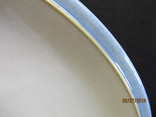 "DENBY  ""BLUE JETTY"" LT BLUE W/WHITE CENTER & TAN BAND 5 SALAD PLATES"