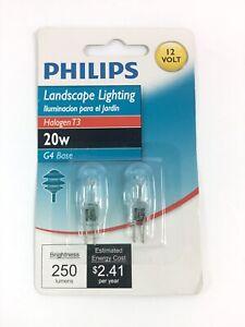 PHILIPS LANDSCAPE LIGHTING - 12 VOLT 20W BULBS - G4 BASE - 2 PACK - SHIPS FREE ~