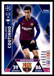 Match Attax Champions League 2018/19 - Philippe Coutinho FC Barcelona No. 13