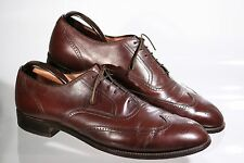 Vintage Nettleton Wingtips size 11 1/2 C Brown excellent cond. price reduced 50%