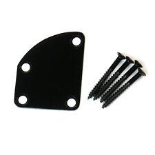 Universal Guitar Neck Plate For Strat tele jaguar Deluxe Style ,Black
