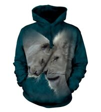 The Mountain Unisex Adult White Lions Love Animal Hoodie