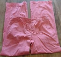 Ann Taylor LOFT Signature Chino Pink Pants Size 8 Excellent Condition