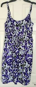 BHS Floaty Floral Summer Sun Dress - Size 16 - Brand New