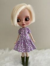 Blythe Doll Outfit / 1/6 Doll Clothing / Handmade/ Dress Only/ Us Seller