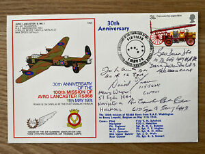 RAF Bomber Command Signed First Day Cover Unique .