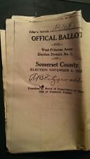 Somerset County Maryland state local election ballot 1923 for governor on down